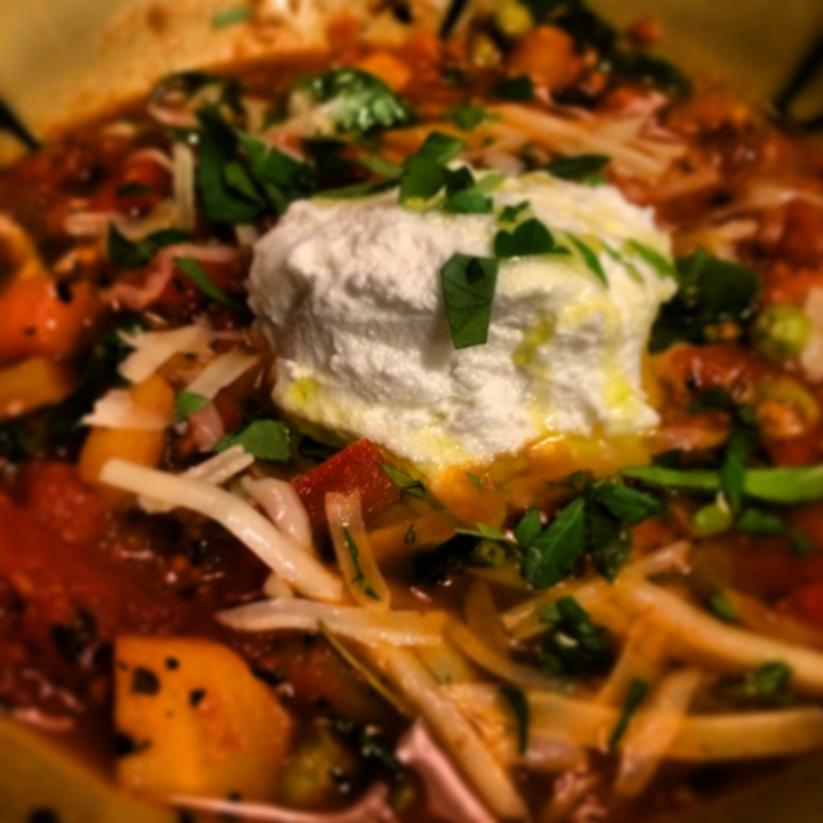 Italian Vegetarian Stew with Ricotta