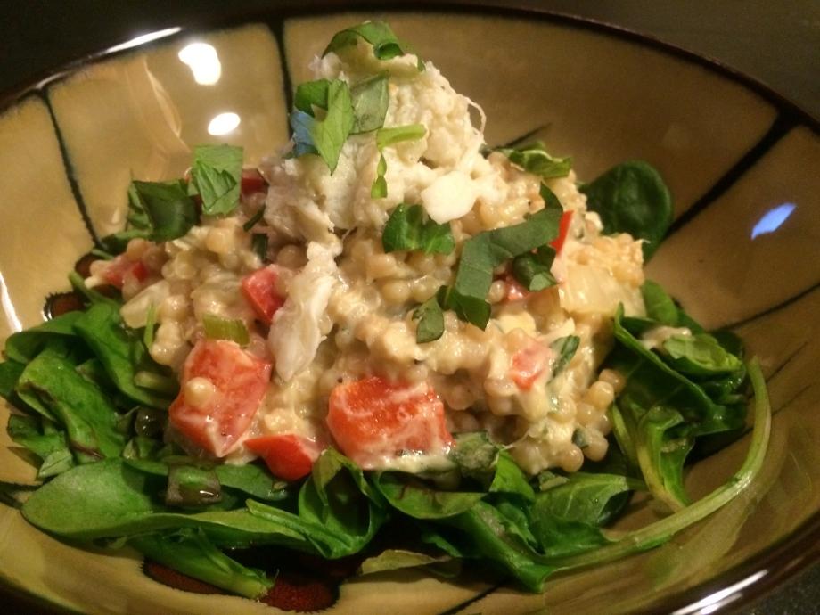 Creamy Crab Couscous